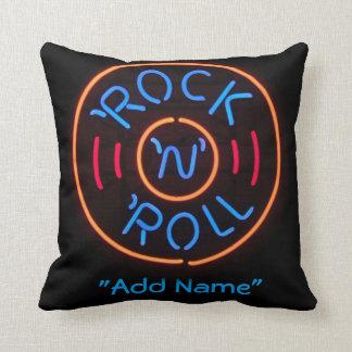 Almohada decorativa del rollo de neón de la roca n cojín decorativo