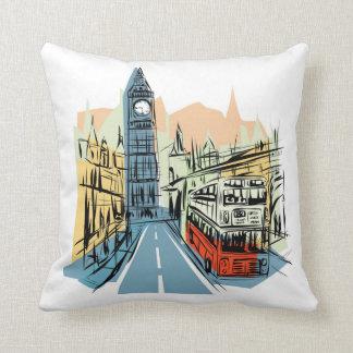 Almohada decorativa del scape de la ciudad de Lond