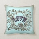 Almohada decorativa del Victorian del amor del