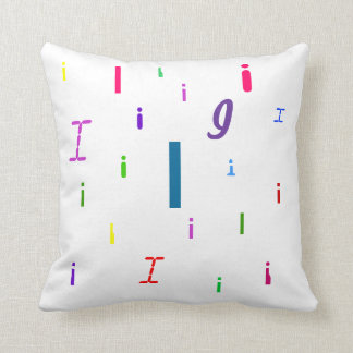 Almohada decorativa I de la letra del alfabeto