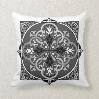 Almohada decorativa persa del arte B&W del Islam d