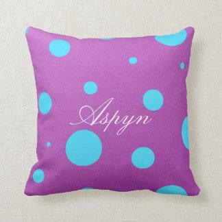 Almohada decorativa personalizada del lunar