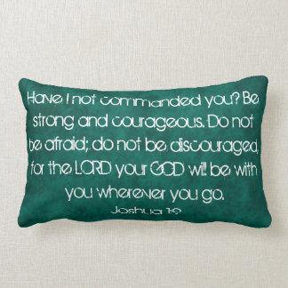 almohada del 1:9 de Joshua del verso de la biblia