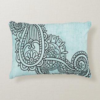 Almohada del acento del adorno de Mehndi de la Cojín Decorativo