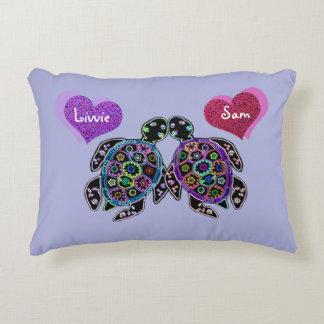 Almohada del acento del amor de la tortuga de mar cojín