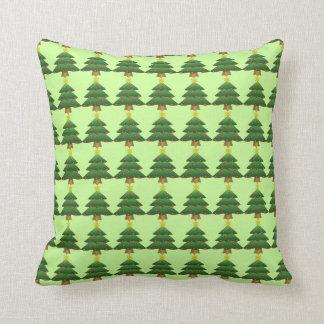 Almohada del acento del árbol de navidad