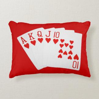 Almohada del acento del póker cojín decorativo