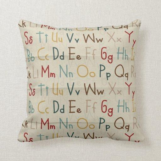 Almohada del alfabeto