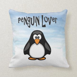 Almohada del amante del pingüino cojín decorativo