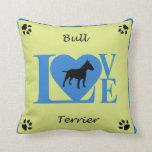 Almohada del AMOR de bull terrier