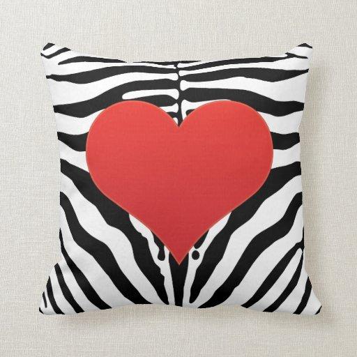 Almohada del amor de la cebra
