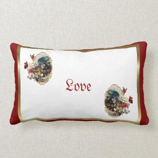 Almohada del amor de la escena del navidad