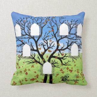 Almohada del árbol de familia cojín decorativo