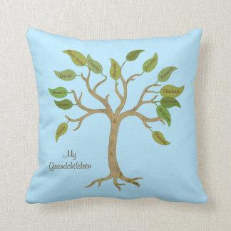 Almohada del árbol de la familia del abuelo cojín decorativo