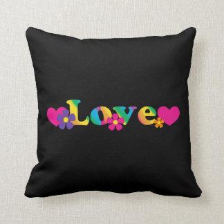 Almohada del arco iris de la paz y del amor 60s