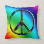 Almohada del arco iris del signo de la paz