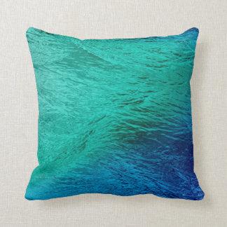 Almohada del arte de Digitaces de la agua de mar d