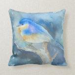 Almohada del arte de la acuarela del Bluebird