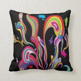Almohada del arte del flujo del color