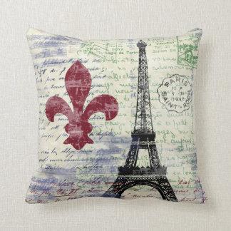 Almohada del arte del vintage de Francia de la