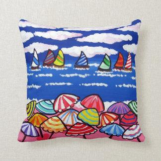 Almohada del arte popular de la playa de la