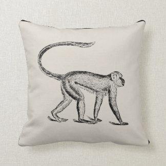 Almohada del artesano del mono del vintage -