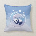 Almohada del azul de la panda el dormir
