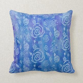 Almohada del azul del batik de Bali Cojín Decorativo