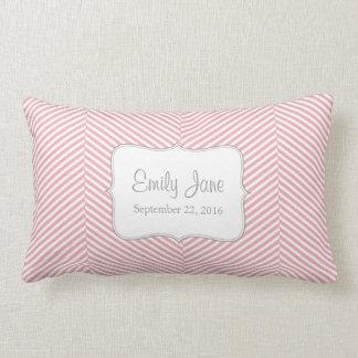 Almohada del bebé - modelo rosado de la raspa de a