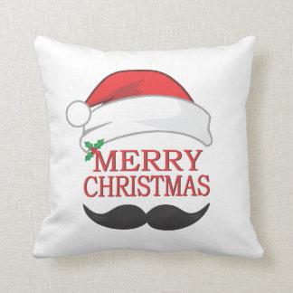 Almohada del bigote de las Felices Navidad