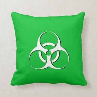 Almohada del Biohazard - verde blanco
