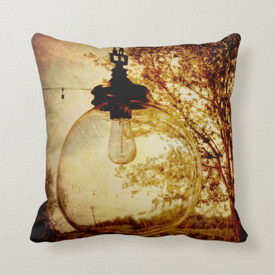 Almohada del bulbo de Steampunk Cojín Decorativo