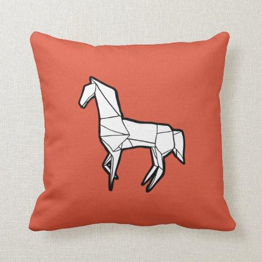 Almohada del caballo de Origami