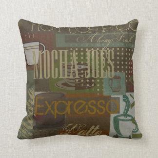Almohada del café de Joes de la moca