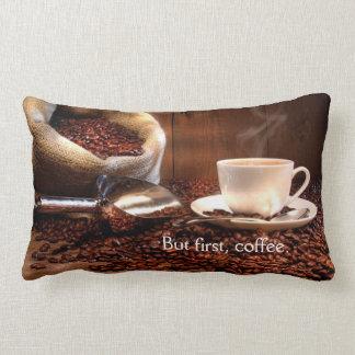¡Almohada del café de la diversión perfecta para Cojín