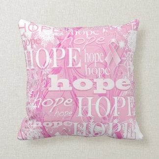 Almohada del cáncer de pecho de la esperanza del cojín decorativo