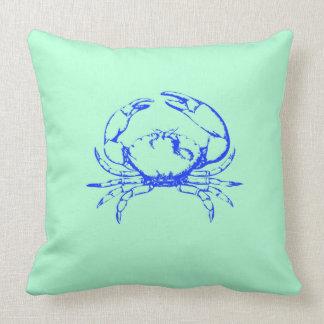 Almohada del cangrejo azul
