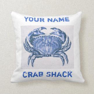 Almohada del cangrejo azul del vintage cojín decorativo