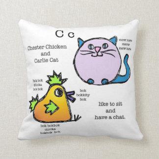 """almohada del """"ch"""" (gato del pollo/hipopótamo del c"""