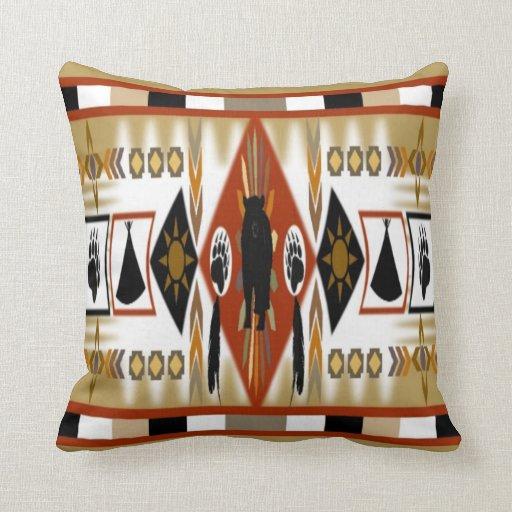 Almohada del clan del oso del nativo americano