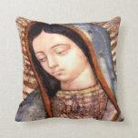 Almohada del cojín de Virgen de Guadalupe