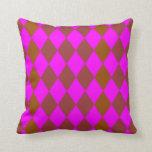 Almohada del color del fucsia/de Brown