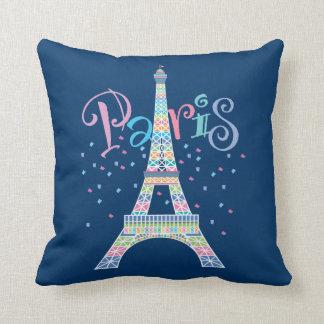 Almohada del confeti de la torre Eiffel