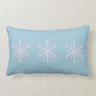 Almohada del copo de nieve del día de fiesta