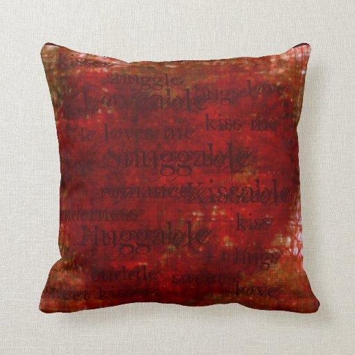 Almohada del corazón de la arpillera (snuggable,