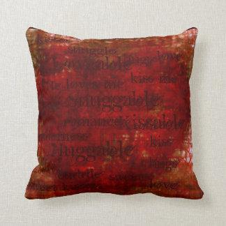 Almohada del corazón de la arpillera (snuggable, a