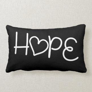 Almohada del corazón de la esperanza