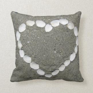Almohada del corazón del Seashell