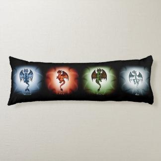 Almohada del cuerpo de 4 dragones del elemento