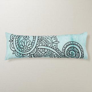 Almohada del cuerpo del adorno de Mehndi de la Cojin Cama